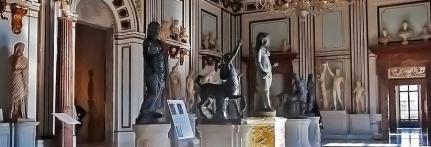 Museo capitolino a Roma con la sua splendida collezione di statue, ed un eccellente bar caffetteria