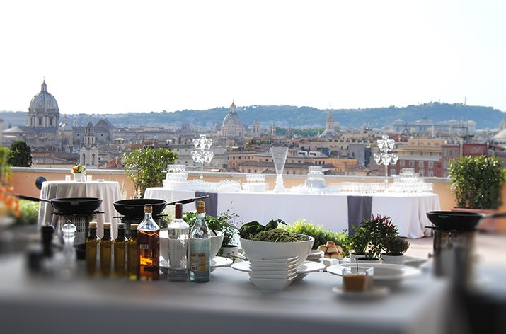 Terrazza Caffarelli Roma - Show cooking on the Terrazza Caffarelli ...